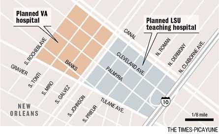 map street tulane avenue hospitals