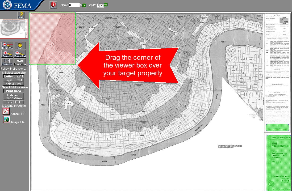 flood map viewer box