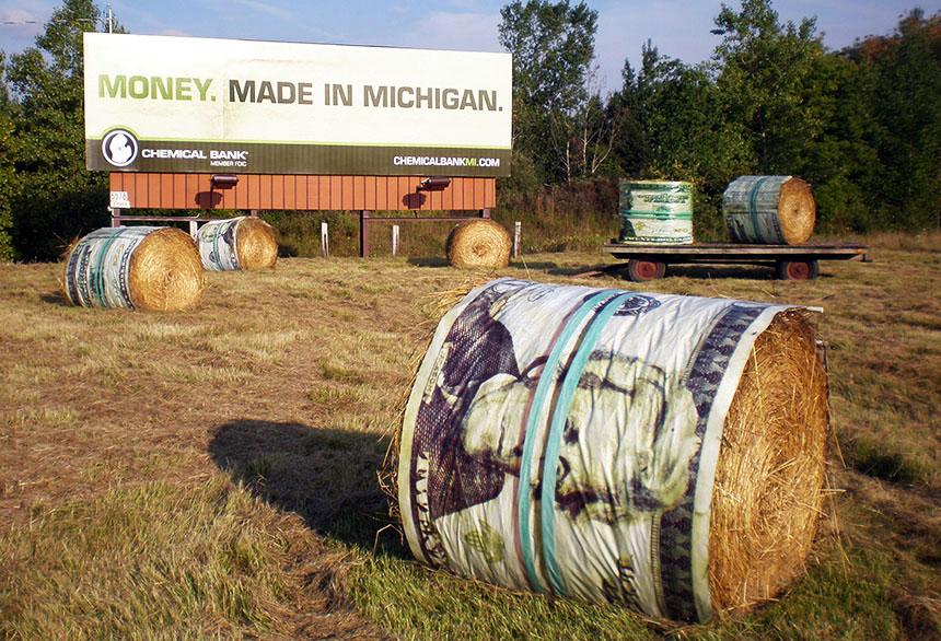 money bale billboard