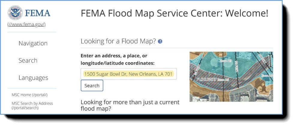 flood map search