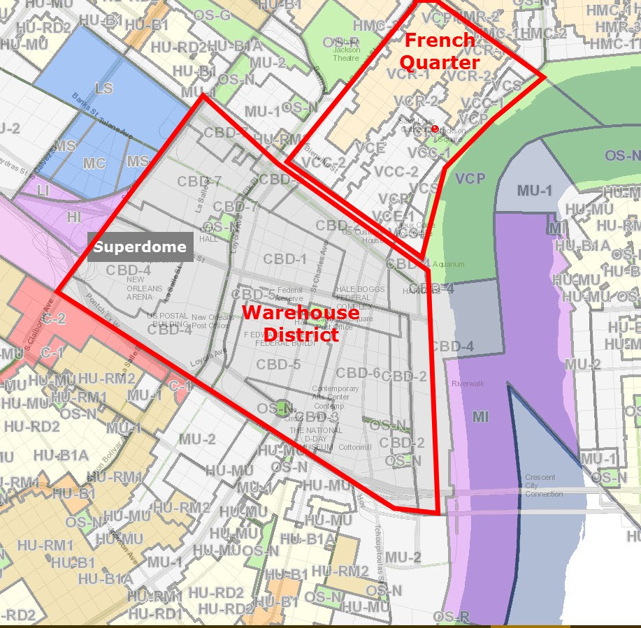 Zoning Map New Orleans New Orleans Commercial Real Estate Zoning For Dummies – Louisiana